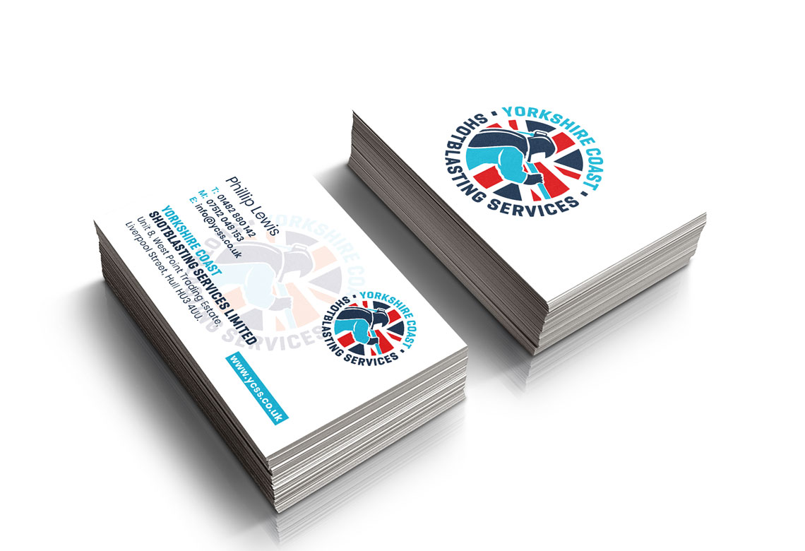 Yorkshire Coast Shotblasting Services business cards