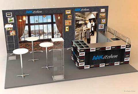 AAK Kitchen exhibition stand