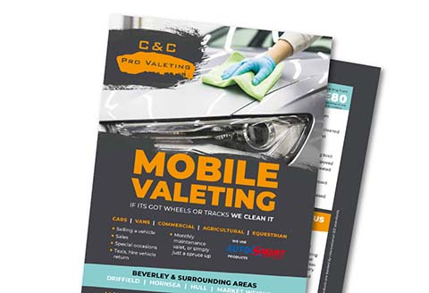 C & C Valeting flyer