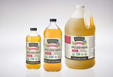 International Collection Organic Apple Cider Packaging