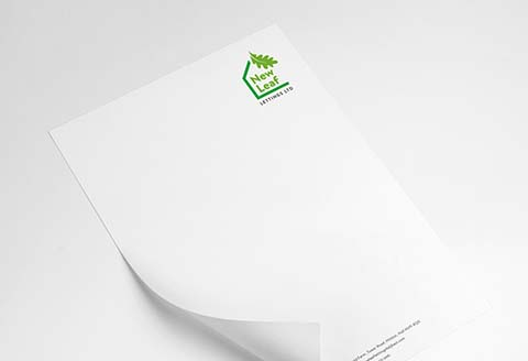 New Leaf Lettings letterhead