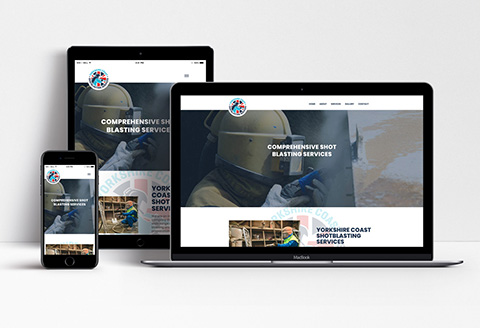 Yorkshire Coast Shotblasting Services Website